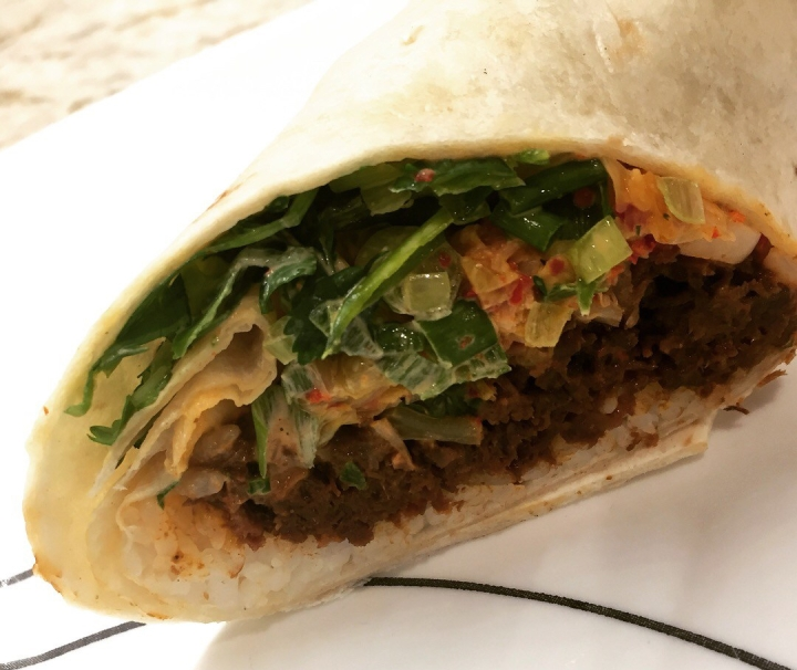 K- style burrito