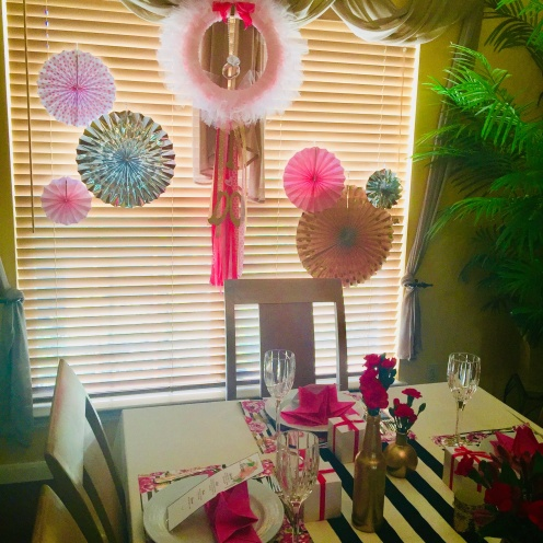 I made the wreath for my daughter's Tutu themed first birthday. I just repurposed it and changed some elements.